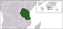 Location of Tanzania