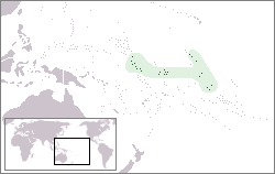 Location of Kiribati