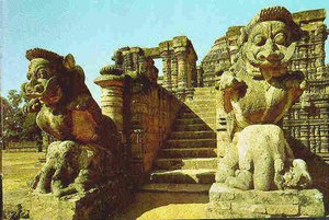 The  (Sun Temple) is conceived as a massive 24-wheel chariot of the Sun God .