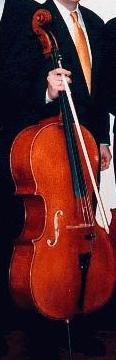 A cropped image to show the relative size of a cello to a human (Uncropped Version)