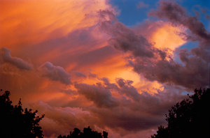 An example of various cloud colors.
